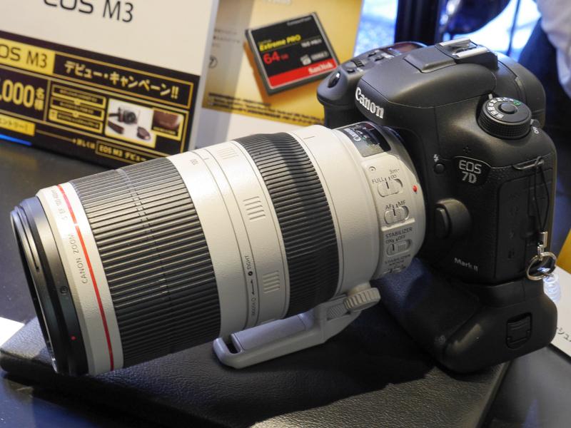 EF 100-400mm F4.5-5.6 L IS II USMも試せる