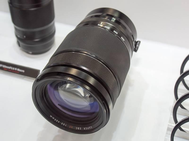 開発中のXF100-400mm