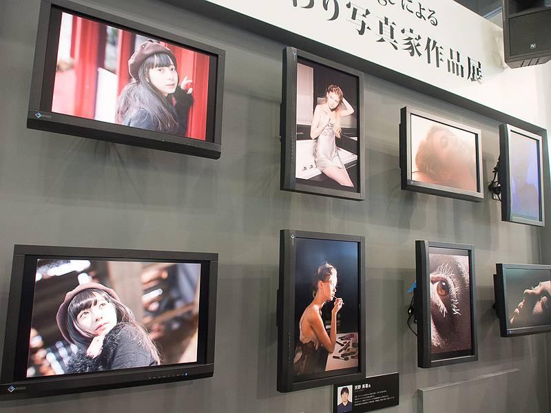 正確な色再現を生かして、日替わりで写真家の作品も展示していた。これは河野英喜氏の作品