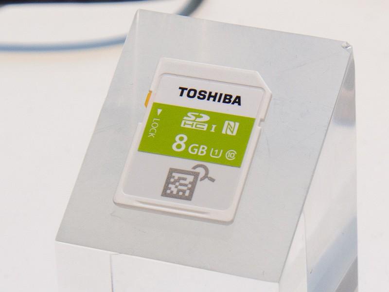 NFCを内蔵したSD-NFCカード