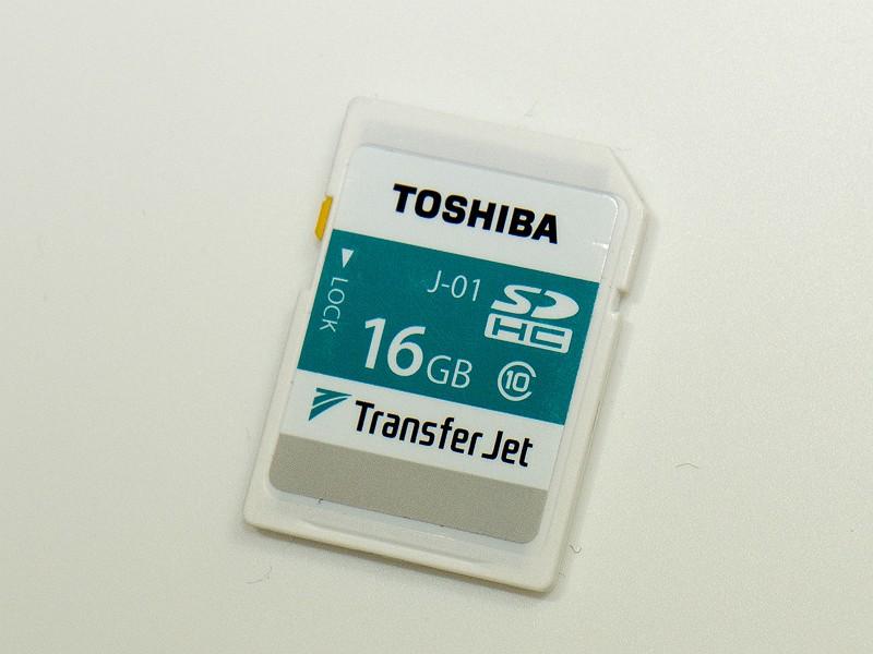 東芝のTransferJet搭載SDカード
