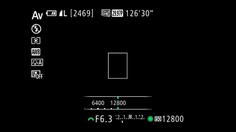 ISOボタンを押し、コントローラーホイールを回すとISO感度を変更できる。右へ回すとISO感度が上がる