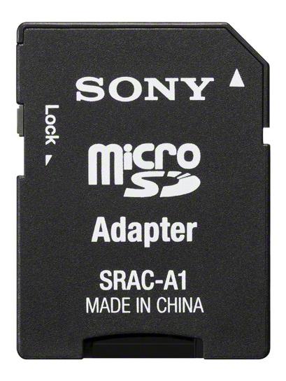 microSDにはSDカード変換アダプターが付属