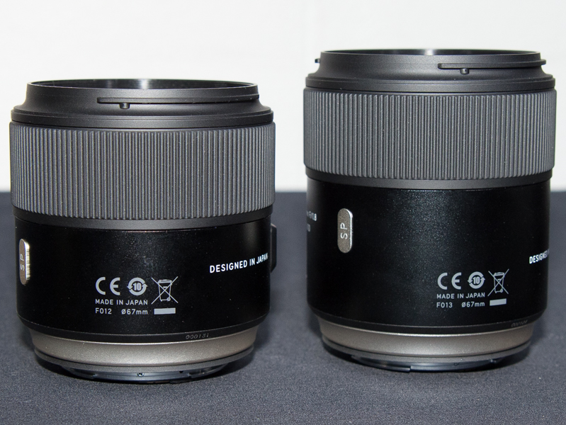 SP 35mm(左)とSP 45mm(右)。日本製となっている