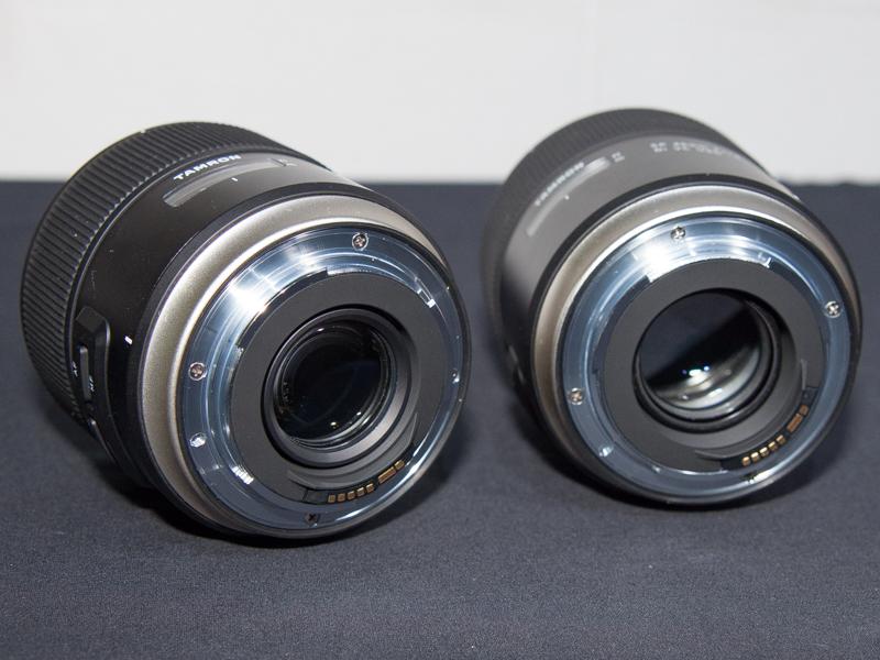 SP 35mm(左)とSP 45mm(右)。マウントも金属製