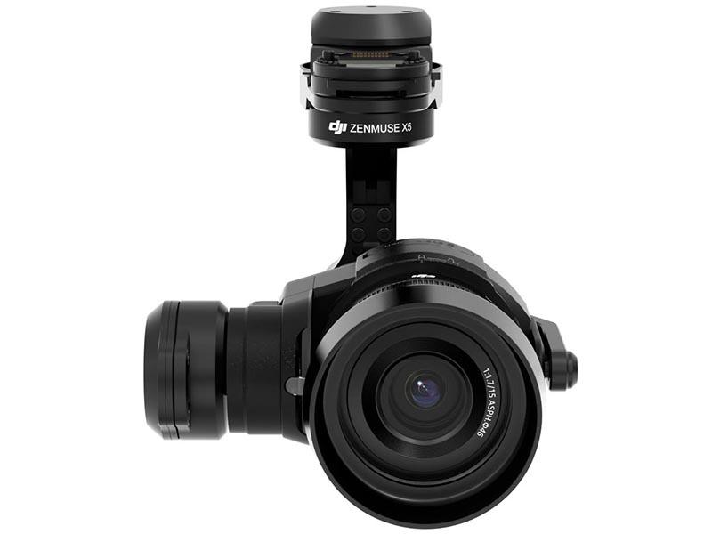 Zenmuse X5。装着レンズはDJIのMFT 15mm f/1.7ASPH