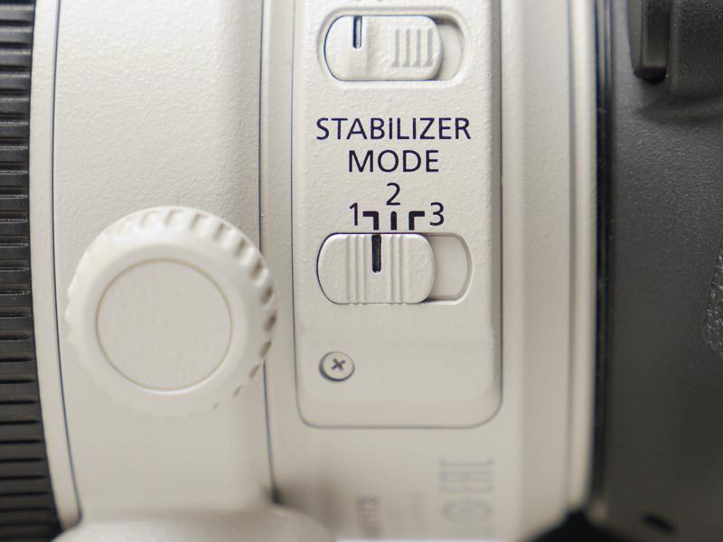 手ブレ補正モードは全ての方向の手ブレを補正するモード1を選択。
