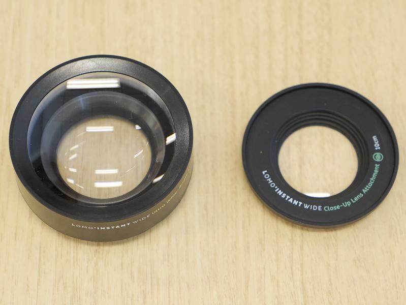 Wide Angle Lens(左)とSplitzer(右)