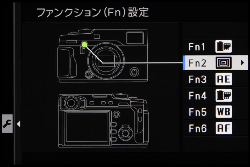 ファンクションボタンは全部で6つ。好みの機能を割り当ておけば、より撮影が快適に楽しめるはずだ。
