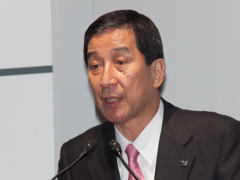 キヤノンマーケティングジャパン代表取締役社長の坂田正弘氏