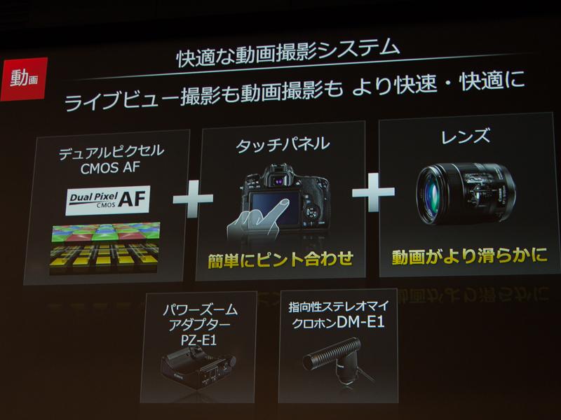 新レンズはナノUSMを初搭載し、動画でも静かで滑らかなAFが可能としている