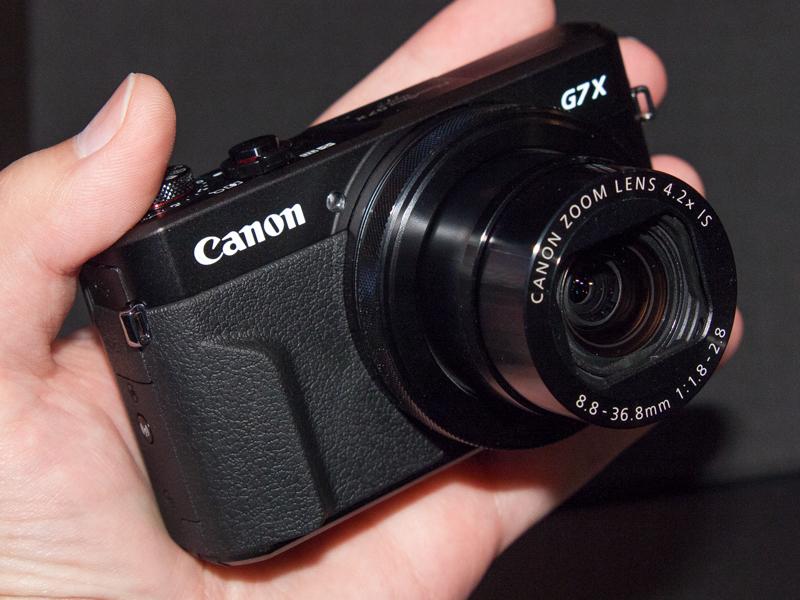 1型センサー搭載の高級コンパクト「PowerShot G7 X Mark II」