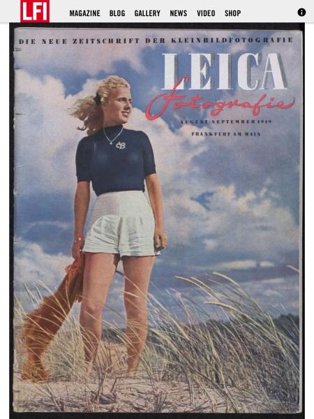 1949年のLeica Fotografie創刊号
