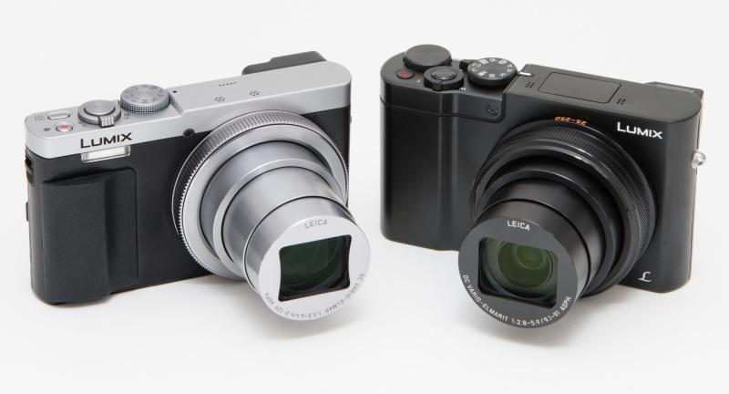 左が1/2.3型で30倍ズームのTZ70。TX1は大きさがほとんど同じなのがわかる。さすがにTX1のレンズは10倍ズームだが、面積が1/2.3型の約4倍もある1型センサーを搭載しているとは思えないほど小さい。