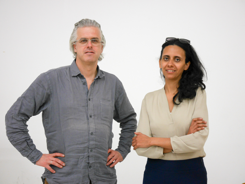 Lomography Society Internationalの創設者、Sally Bibawyさん(左)とMatthias Fieglさん(右)