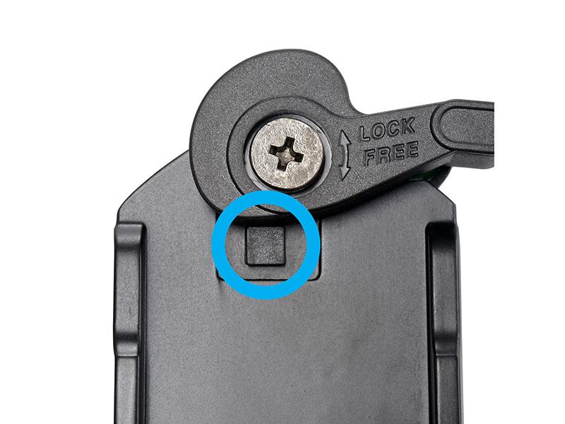 シュー固定レバーにはカーボン繊維強化樹脂を使用