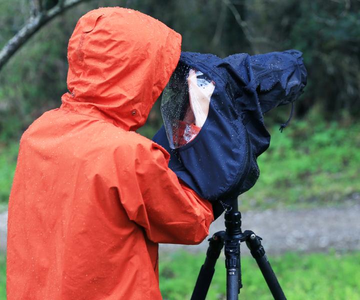 セーフテック カメラレインカバープロ使用例