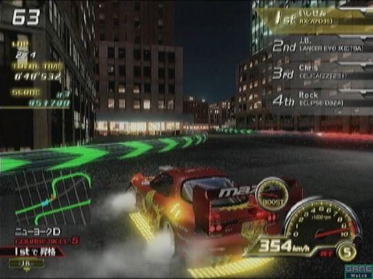 ドリフト中にアクセルを離し、すぐに踏み込めばパワースライドが可能。コーナーごとに脱出速度を確認しながら走るといい