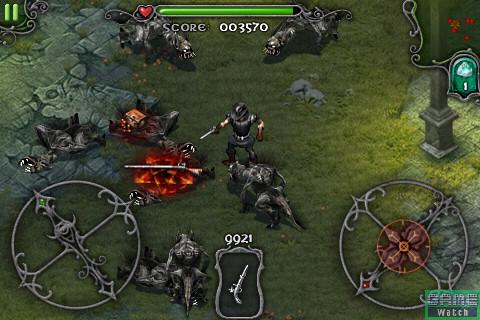 「Survival」モードでは、武器や弾薬、ポーションが出現し、次第に敵が強くなっていく