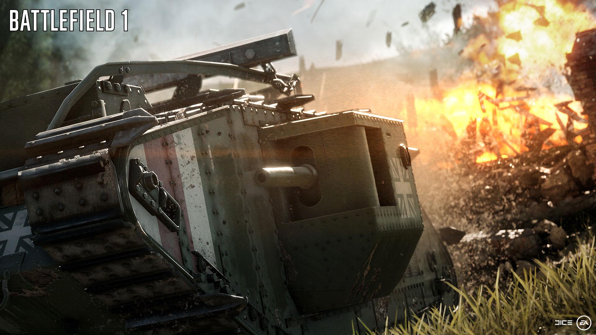 異様な威圧感を誇る多砲塔戦車。動きはトロい