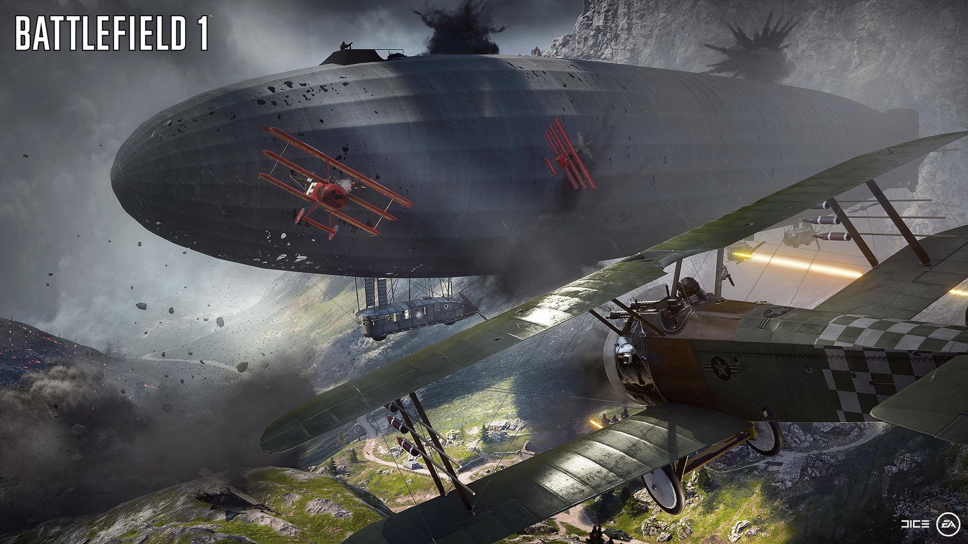 空の要塞、飛行船。墜落すると地形すら変えてしまうほどのデカさ