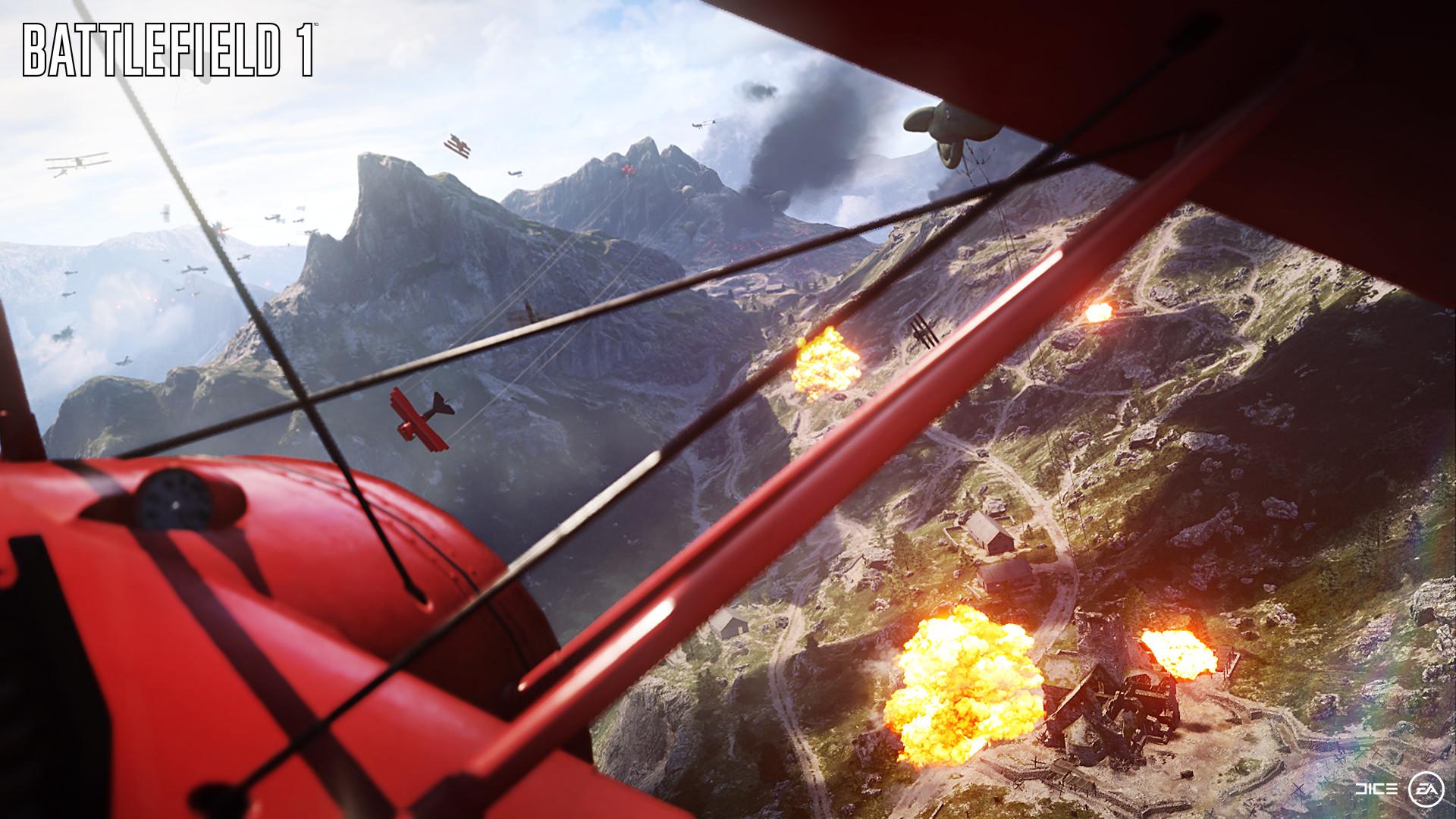 複葉機はスピードがないが小回りがきき、地上戦に近いスケールで空の戦いが展開する