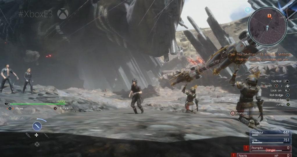 田端ディレクター、マット岸本氏がカンファレンスに登場し、タイタン戦をプレイ!