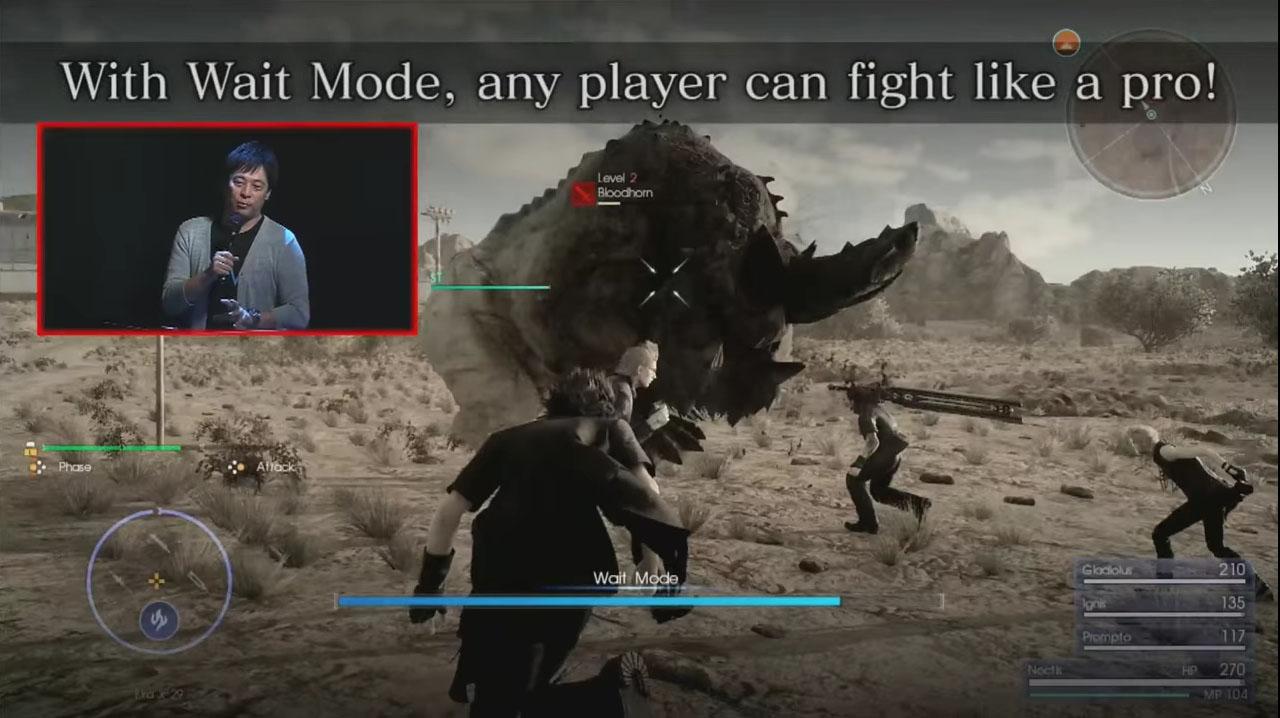 田端ディレクターがライブステージで戦闘の新要素「ウェイトモード」を披露!
