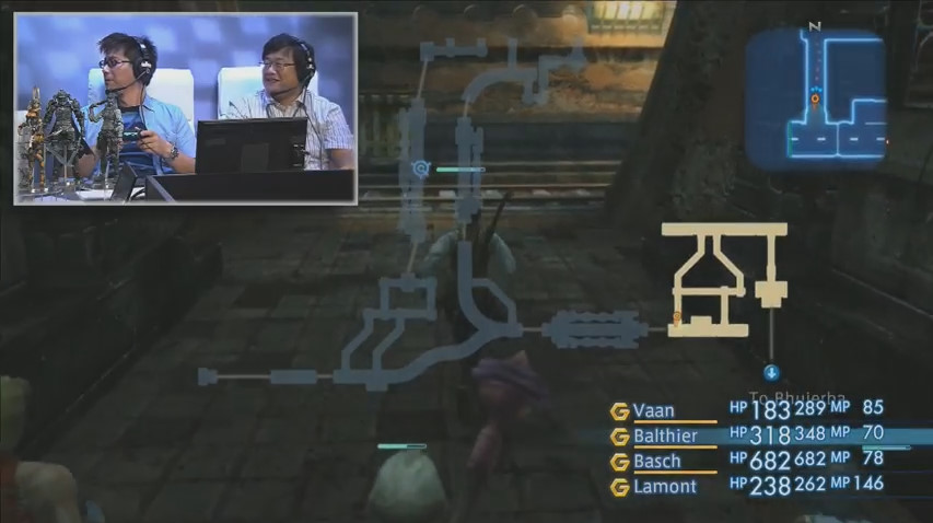 デモプレイの様子。フィールド画面に重ねてロケマップを表示できるようになったりと、現代のゲームとして遊びやすいように改良されている