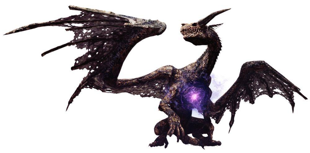 朽ちた竜の亡骸が大気中のリムを引き寄せて動力としたアンデッドドラゴン。背中や腰に付着したリムの結晶を力の源としている。内部に秘められた胸元のリムは露出することで魔力をより増加させ、強大な魔法を操ることを可能とする