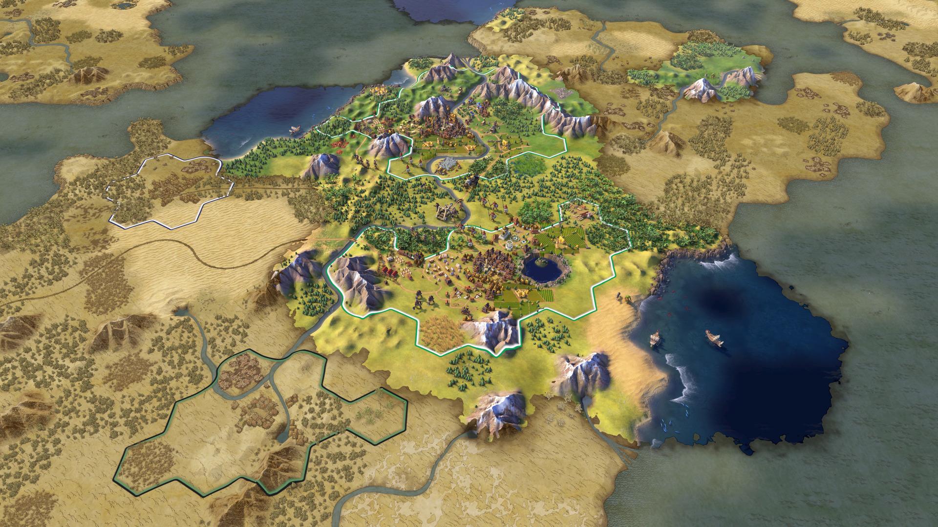 周辺の土地をどう活用するかによって、文明の性格が大きく変わっていく