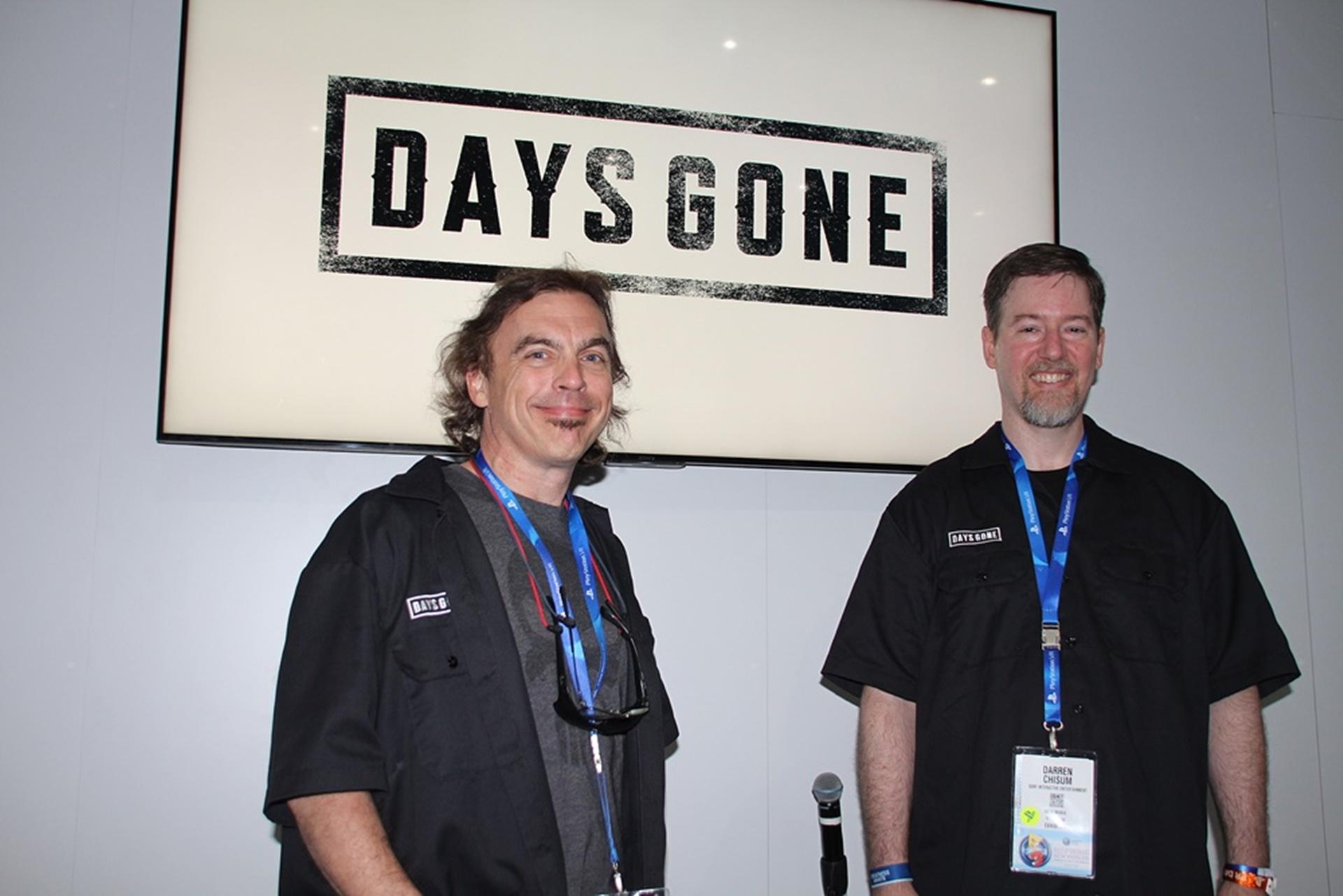 左から、Bend Studioで「Days Gone」システムアーキテクチャーを担当するJoseph Adzima氏と、AIプログラマーを務めるDaren Chisum氏