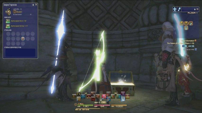 """PLLの映像内で常に目立っていた""""光る武器""""。これが50階までで獲得できる報酬となる"""