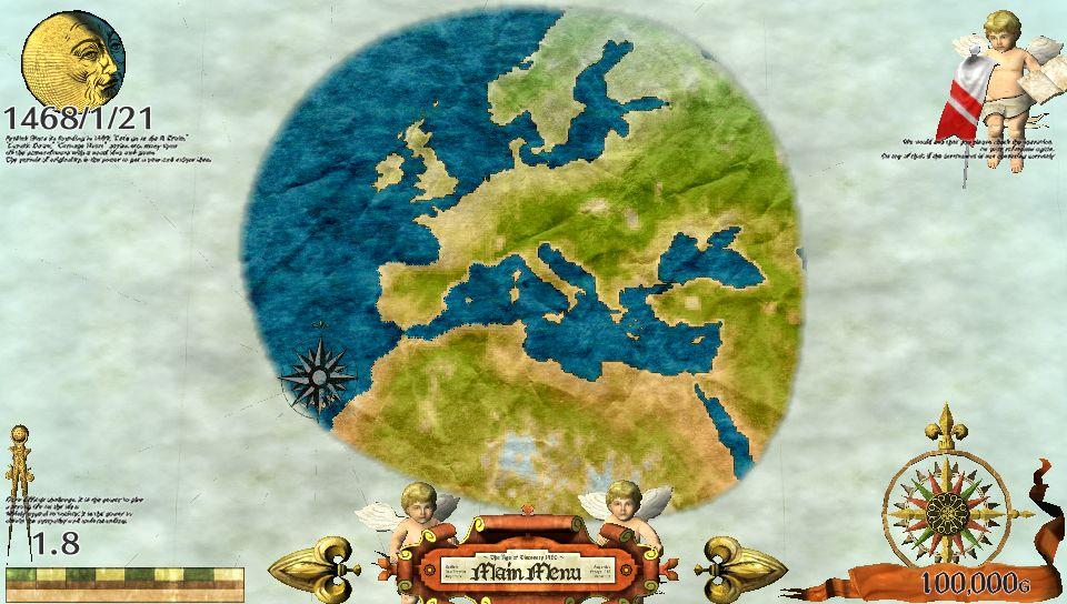 スタート時、ヨーロッパの1部以外は謎に包まれている