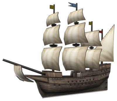 """<strong class=""""em """">ガレオン・ラゴス</strong> 「探検船」カラベル船とキャラック船の特徴をバランスよく兼ね備えた「進化版」でガレオンタイプの探険船。流氷に対しても強い"""