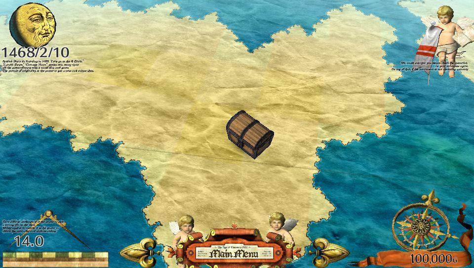 世界地図にズームする距離を選ぶことができ、地図上のレアアイテムや宝物を見つけるのに役立つ