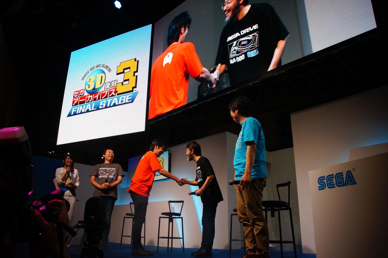 元テクノソフト開発室長の新井氏がスペシャルゲストに登場! テクノソフトブランド全タイトルの権利をセガゲームスが取得した経緯や、今回の「サンダーフォースIII」移植について想いを語った