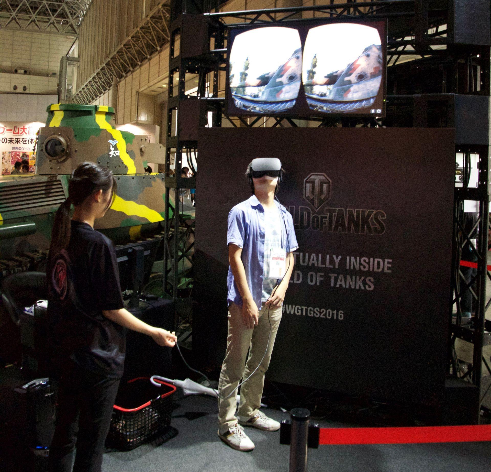 こちらはOculus Riftを使ってWoTの世界に入り込めるというもの