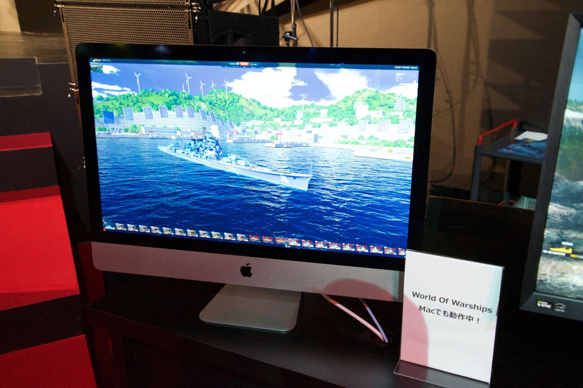 さらに「World of Warships」の試遊台では実装間近の艦艇や、アルペジオコラボ艦の新作高雄も見られるようになっている