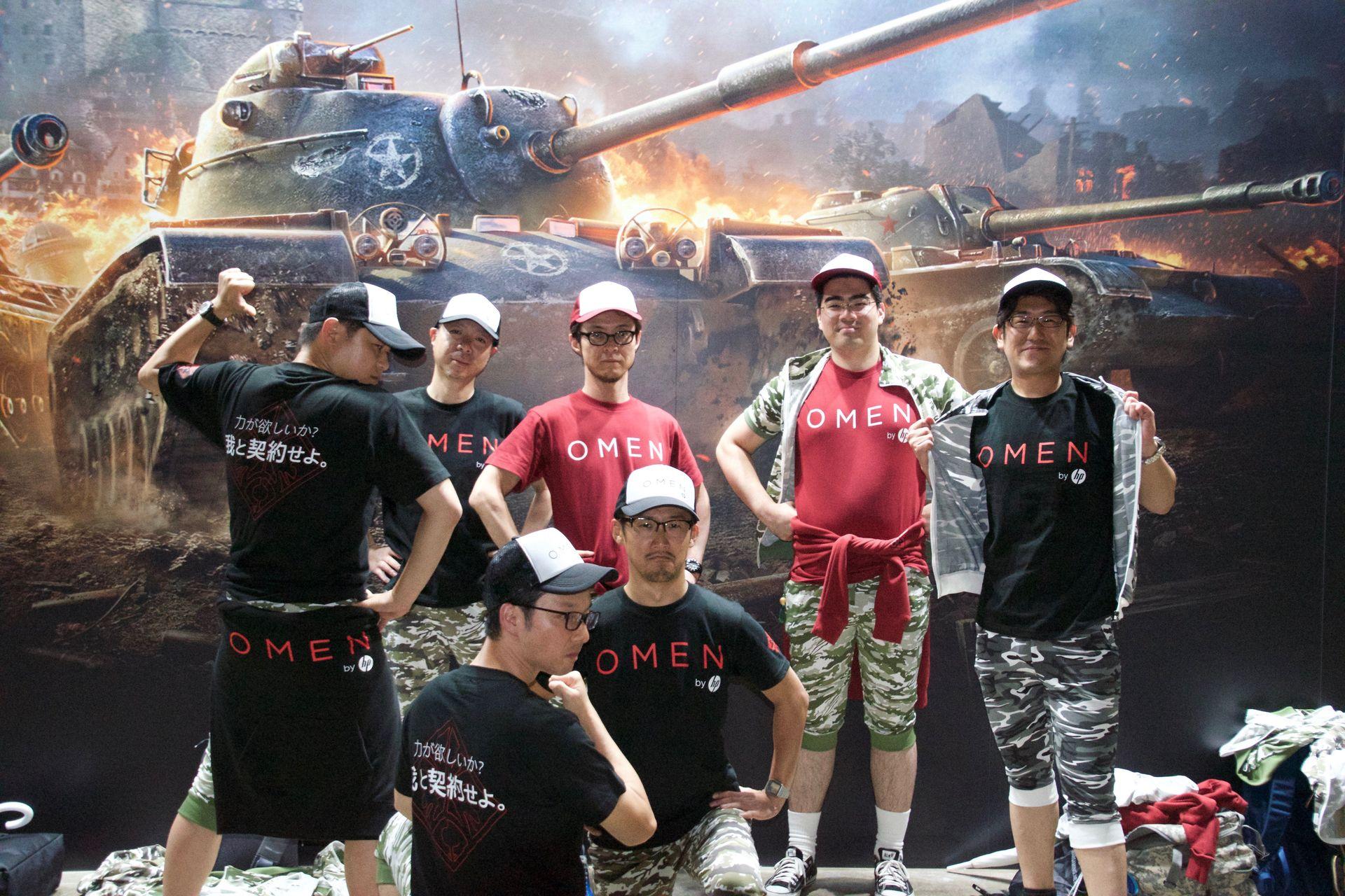 日本HPからはOMENs 7チーム。Tシャツからキャップまでバッチリ揃えていた。チームメンバーの平均Tierは3程度で、3週間程度トレーニングを積んできた様子