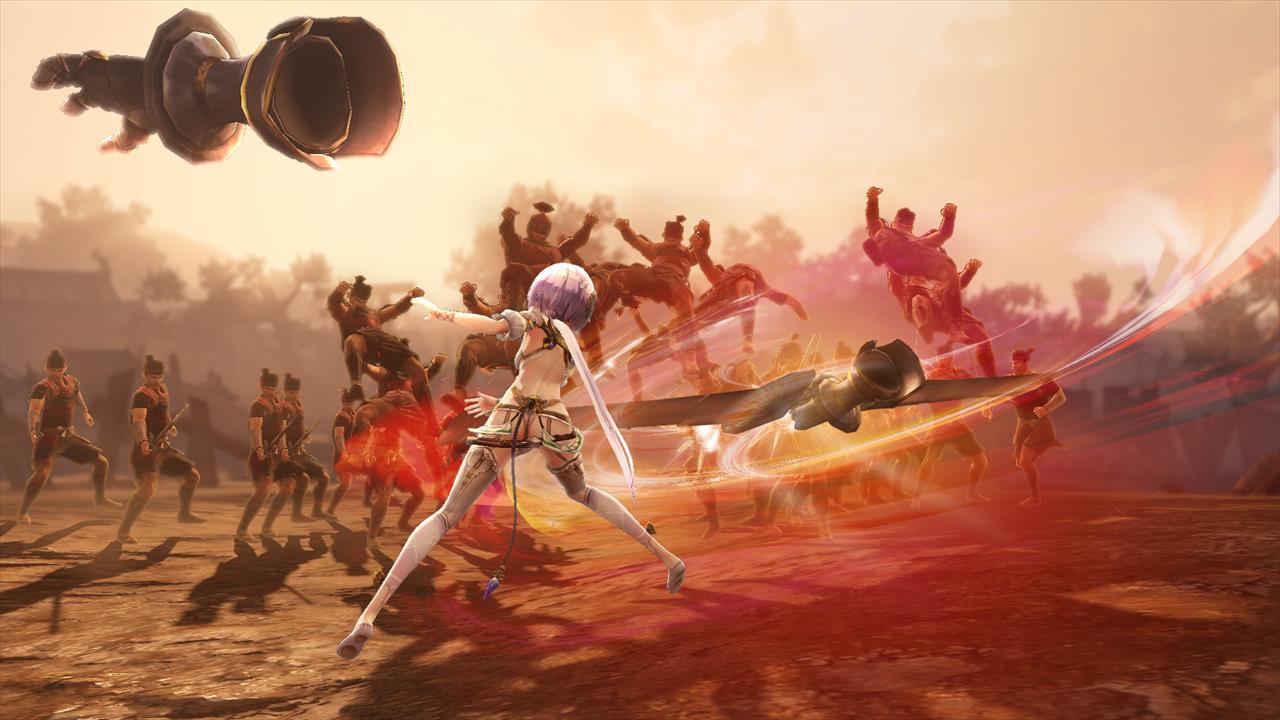 駆動機兵に持たせた剣を回転させながら、敵を切り裂く「トゥハンダー」で敵を吹き飛ばすプラフタ