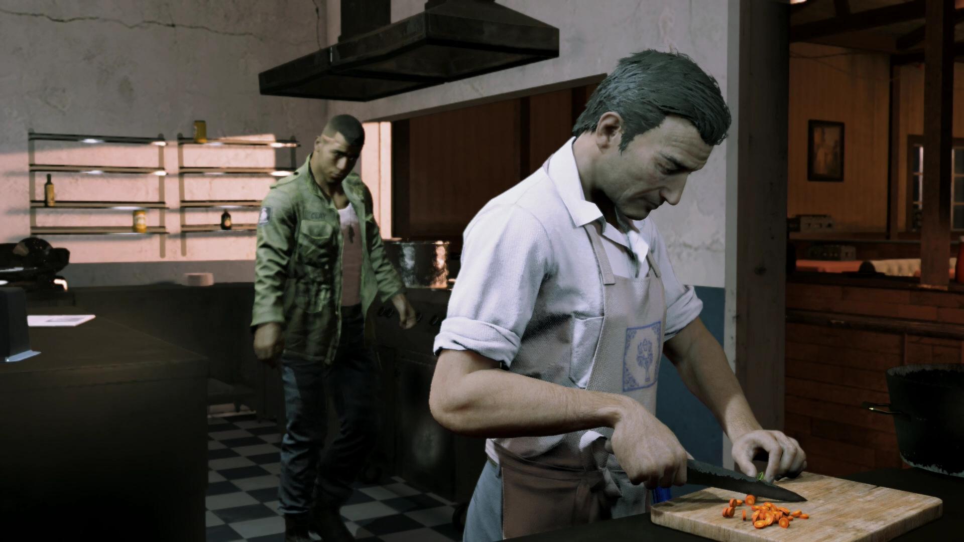 料理好きという意外な一面を見せることもある。長いマフィア暮らしが続くヴィトだが、心のどこかで平穏を願っているのかもしれない