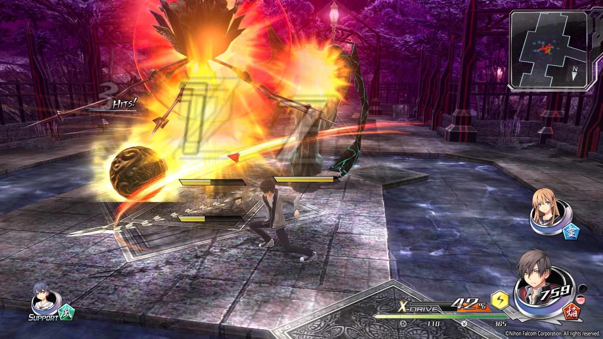 攻撃スタイルの異なるキャラクターを切り替えながら戦っていく