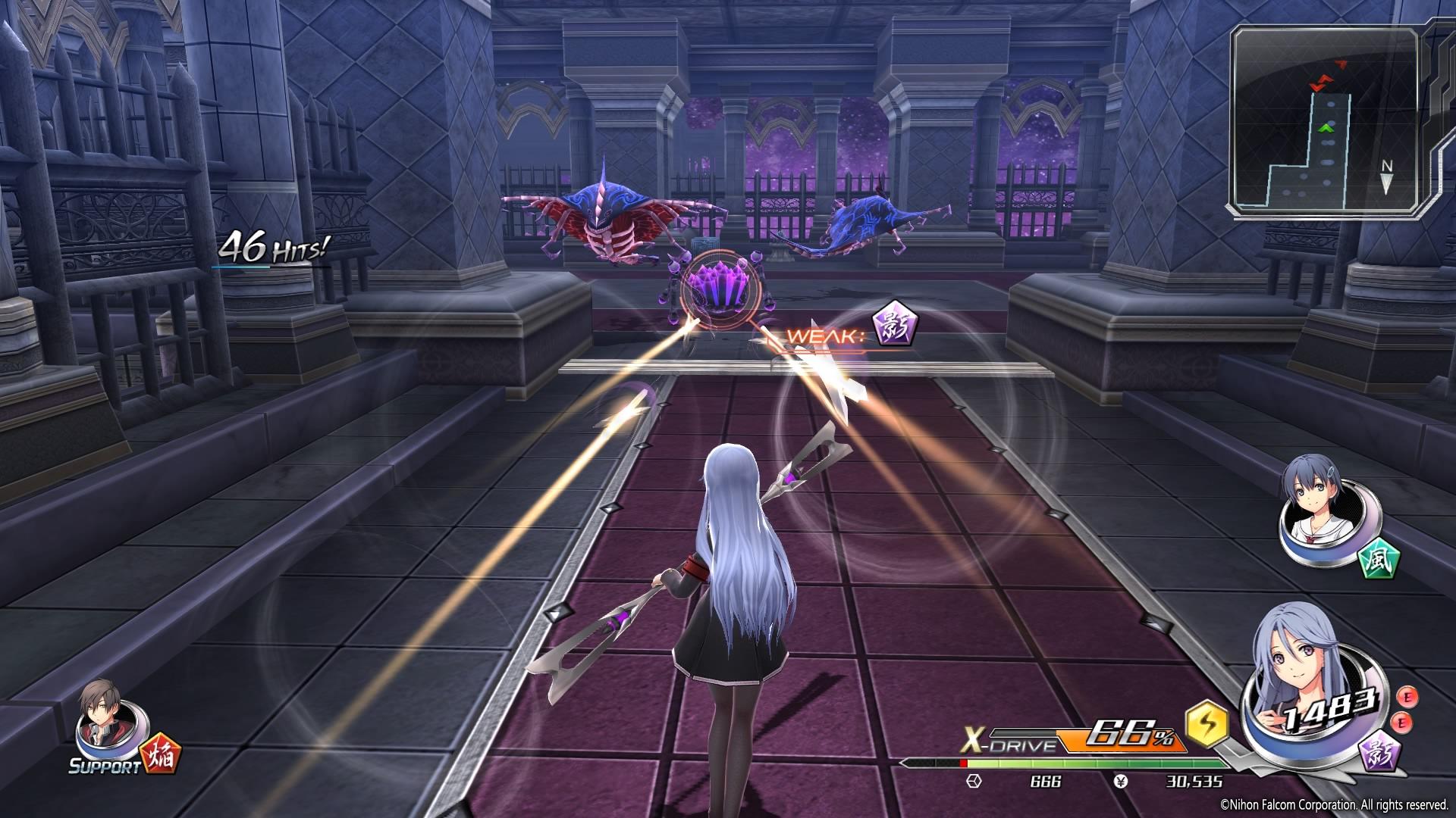 射撃スキルの射程もキャラクターによって大きく変わる。射撃が主力となるシュータータイプのキャラクターも存在