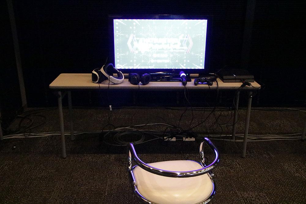 2階では「初音ミク VRフューチャーライブ 2nd Stage」をプレイ可能