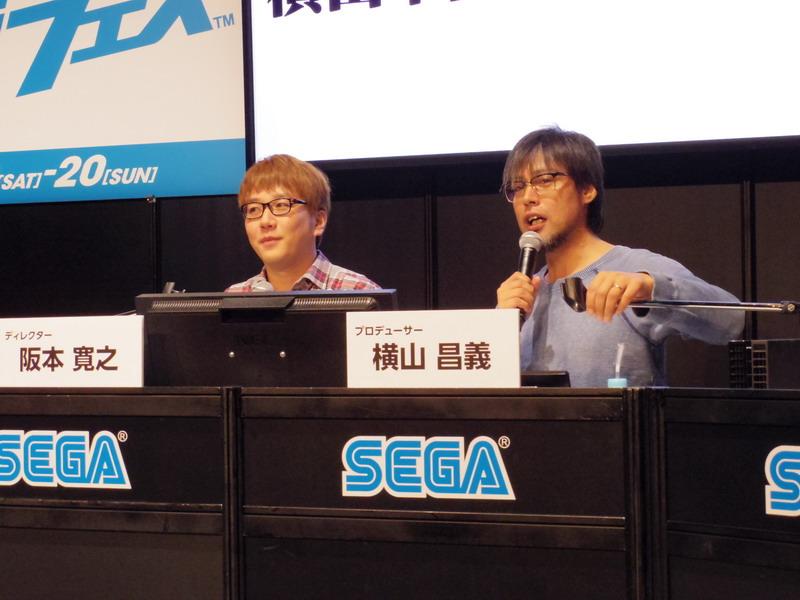 本作プロデューサーの横山昌義氏(右)とディレクターの阪本寛之氏(左)