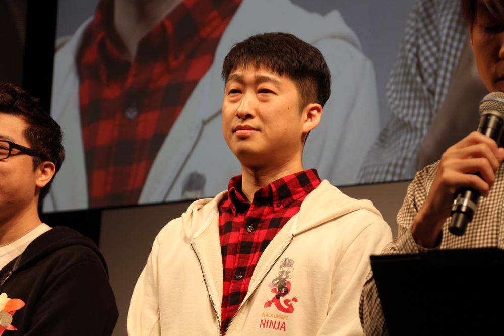 PearlAbyss企画チーム長のキム・ジェヒ氏。発表はキム氏が行なった