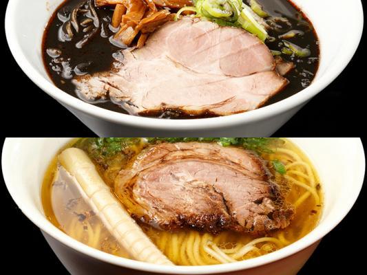 上:極kiwami桐生麺/ 下:真島黄金塩らぁ麺