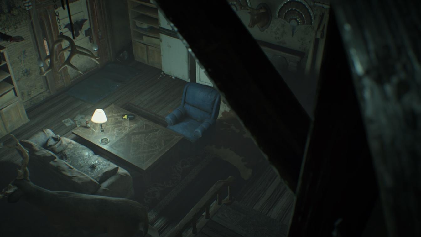 剥製のある部屋