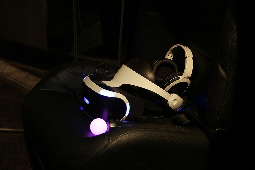 「VR センス」はPlayStation VRを利用したアミューズメント施設用機器